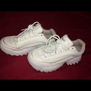 """White """"dad"""" sneakers"""